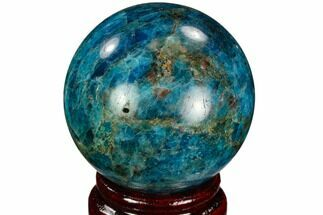 "Buy 2.1"" Bright Blue Apatite Sphere - Madagascar - #121843"