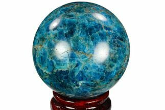 "Buy 2.5"" Bright Blue Apatite Sphere - Madagascar - #121792"