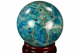 "Buy 2.2"" Bright Blue Apatite Sphere - Madagascar - #121807"