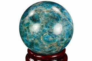 "2"" Bright Blue Apatite Sphere - Madagascar For Sale, #121853"
