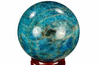 "1.96"" Bright Blue Apatite Sphere - Madagascar For Sale, #121856"