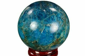 "Buy 1.9"" Bright Blue Apatite Sphere - Madagascar - #121858"