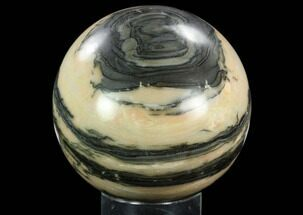 "Buy 5.7"" Polished Peach & Grey Colored Sphere - Madagascar - #121981"