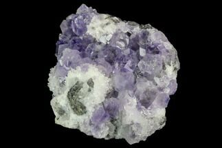 "Buy 1.8"" Purple Fluorite Crystals with Quartz - China - #122014"
