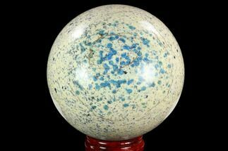 "Buy 4.7"" Polished K2 Granite (Granite With Azurite) Sphere - Pakistan - #123478"