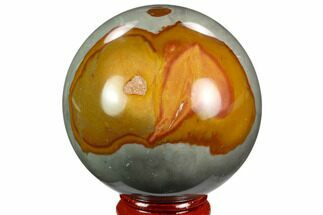"2.4"" Polished Polychrome Jasper Sphere - Madagascar For Sale, #124151"