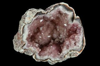 "Buy 2.3"" Pink Amethyst Geode Section - Argentina - #124168"