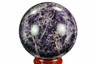 "2.2"" Polished Chevron Amethyst Sphere For Sale, #124475"