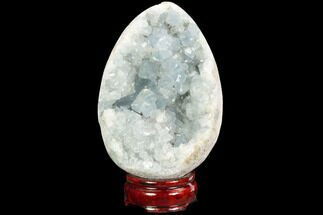 "Buy 5"" Crystal Filled, Celestine (Celestite) ""Egg"" - #124702"