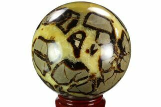 "Buy 5.7"" Polished, Septarian Sphere - Madagascar - #125485"