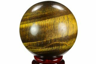 "Buy 2.75"" Polished Tiger's Eye Sphere - Africa - #124615"