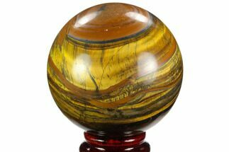 "3"" Polished Tiger's Eye Sphere - Africa For Sale, #124619"