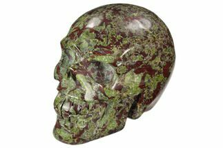"Buy 4"" Polished Dragon's Blood Jasper Skull - South Africa - #125170"