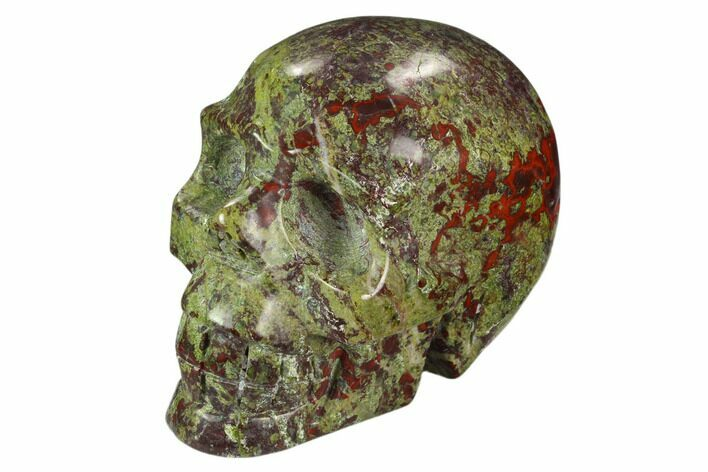"3.8"" Polished Dragon's Blood Jasper Skull - South Africa"