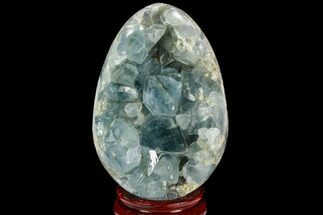 "4.3"" Crystal Filled, Celestine (Celestite) ""Egg"" For Sale, #124709"