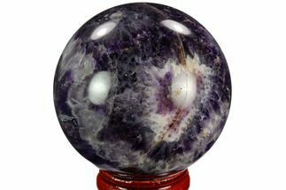 "2.15"" Polished Chevron Amethyst Sphere For Sale, #124514"