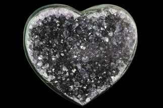 "2.9"" Purple, Amethyst Heart - Uruguay For Sale, #123758"