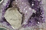"9.5"" Amethyst Geode with Calcite on Metal Stand - Great Color - #126342-4"