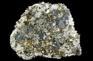 "Buy 3.9"" Quartz, Sphalerite and Pyrite Association - Peru - #126556"