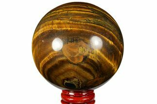 "3"" Polished Tiger's Eye Sphere - Africa For Sale, #124622"