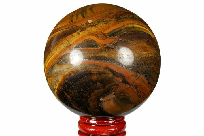 "2.7"" Polished Tiger's Eye Sphere - Africa"
