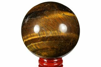"Buy 2.6"" Polished Tiger's Eye Sphere - Africa - #124651"