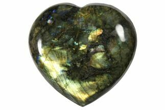 "Buy 4"" Flashy Polished Labradorite Heart - Madagascar - #126673"