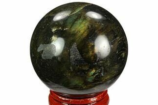 "Bargain, 1.8"" Polished Labradorite Sphere - Madagascar For Sale, #126800"