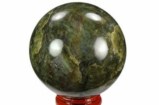 "2.4"" Polished Labradorite Sphere - Madagascar For Sale, #126833"