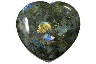 "Buy 5.7"" Flashy Polished Labradorite Heart - Madagascar - #126697"