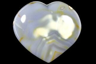 "4"" Polished, Blue Agate Heart - Madagascar For Sale, #126701"