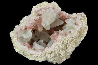 Quartz var. Pink Amethyst & Calcite - Fossils For Sale - #127293