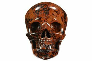 "Buy 6"" Realistic, Polished Mahogany Obsidian Skull - Mexico - #127564"