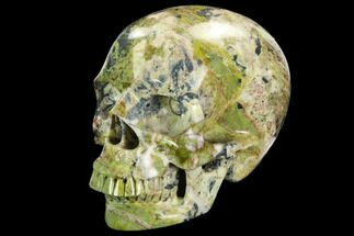 "5"" Realistic, Polished ""Yellow Turquoise"" Jasper Skull For Sale, #127643"