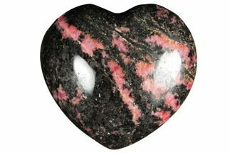 "Buy 2.7"" Polished Rhodonite Heart - Madagascar - #126760"