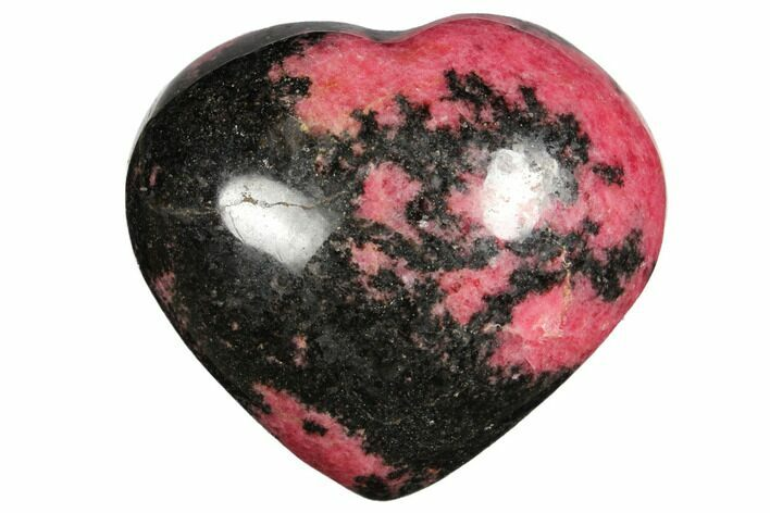 "3.7"" Polished Rhodonite Heart - Madagascar"
