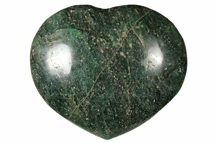 "2.7"" Polished Fuchsite Heart - Madagascar"