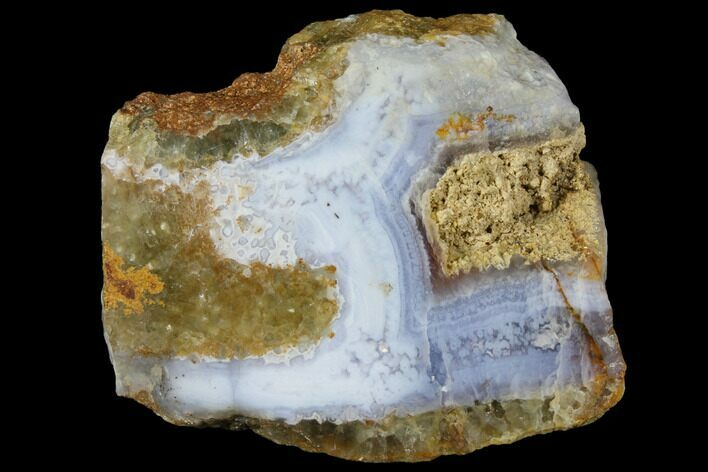 "3"" Polished Blue Lace Agate Slice - South Africa"