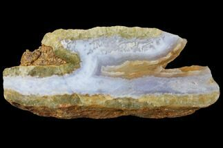 "Buy 4.4"" Polished Blue Lace Agate Slice - South Africa - #128434"