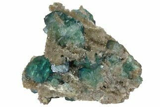 "3.3"" Green Fluorite Crystals on Quartz - China For Sale, #128564"