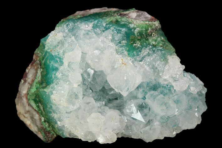 "1.6"" Quartz Encrusted Chrysocolla  - Zacatecas, Mexico"