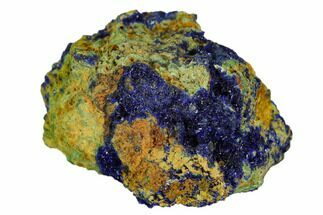 "Buy 1.1"" Sparkling Azurite Crystal Druze on Rock - Mexico - #126940"