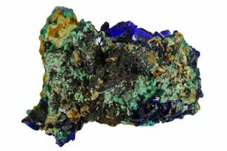 "Buy .9"" Sparkling Azurite Crystals With Malachite - Mexico - #126946"