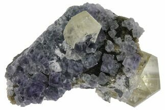 Fluorite, Calcite & Quartz - Fossils For Sale - #128793