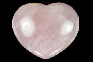 "Buy 2.75"" Polished Rose Quartz Heart - Madagascar - #129040"
