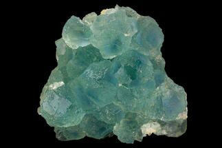 "3.1"" Stepped Blue-Green Fluorite Crystal Cluster - China For Sale, #128924"