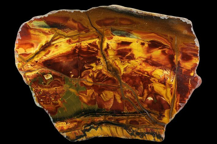 "9.1"" Marra Mamba Tigers Eye Slab - Mt. Brockman (2.7 Billion Years)"