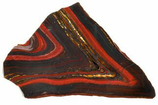 "Buy 7.1"" Polished Tiger Iron Stromatolite - 3.02 Billion Years - #129433"