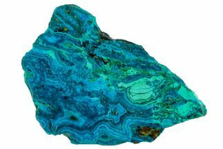 "Buy 3.5"" Polished Chrysocolla & Plume Malachite - Bagdad Mine, Arizona - #130477"