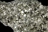 "Large, 10"" Gleaming Pyrite Crystal Cluster - Peru - #131136-3"
